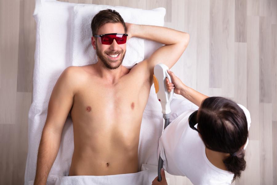 הסרת שיער באינפרא אדום לגברים במכון יופי שוש